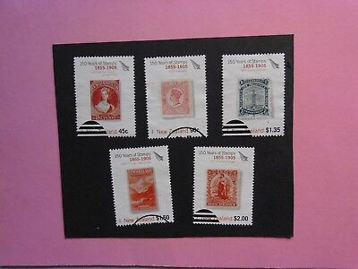 NEW ZEALAND: 2005  150th Anniversary of First NZ Stamps I 5 values VFU Sg2771/5