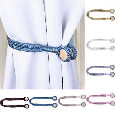 Home Decor Curtain Magnetic Tieback Twisted Holders Tie Blind Backs Buckles Clip