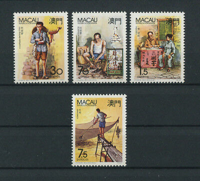 Portugal Macao Macau 1990 TYPICAL PROFESSIONS complete set MNH, FVF