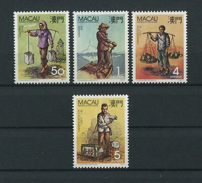 Portugal Macao Macau 1989 TYPICAL PROFESSIONS complete set MNH, FVF