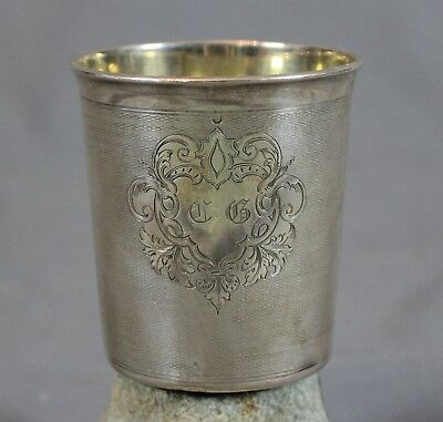 19th Century Continental Silver French Beaker