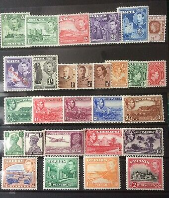 British George VI Empire Selection Mint Stamps