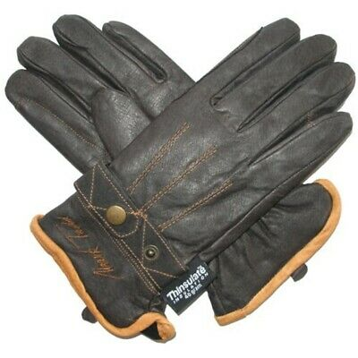 Mark Todd Winter Riding Glove - Brown, Large - Thinsulate Gloves Adult Leather