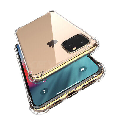For iPhone 11 Pro Max Clear Bumper Shockproof Silicone Protective Cover Case AU