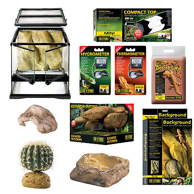 Exo-Terra Invertebrate Habitat Starter Kit - 30x30x30cm - Everything for Setup