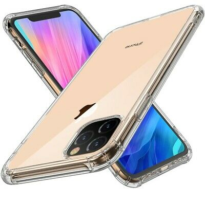 For iPhone 11 Pro Max Clear Bumper Shockproof Silicone Protective Cover Case UB