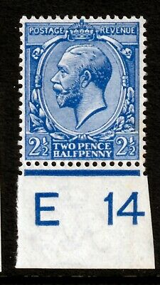 N21(4)21/2d Bright Blue Control UNMOUNTED /MINT(1)