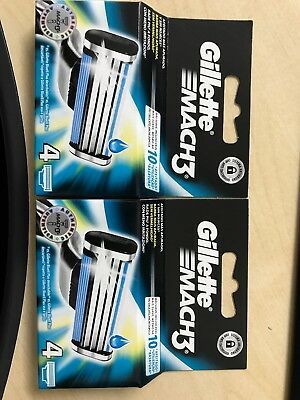 Gillette Mach 3 Blades 4pack, £4.99 Free Post&Packing, Brand New 10 In Stock