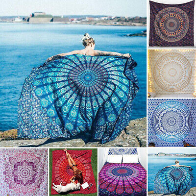 Mandala Tapestry Indian Wall Hanging Decor Bohemian Hippie Queen Bedspread Throw
