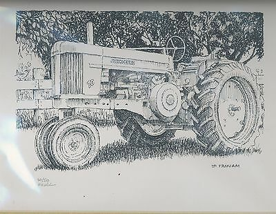 John Deere 70 Tractor Limited Edition Signed Print #'d 26/500