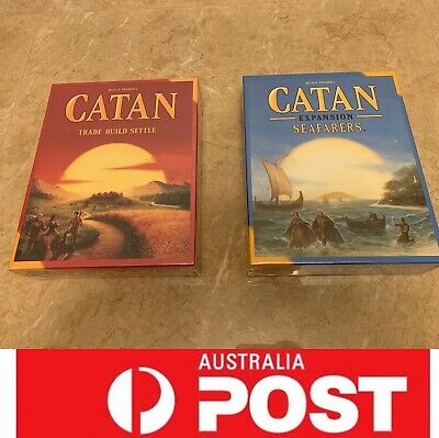 Settlers of Catan main board game or Catan Expansion Seafarers, AU Stock