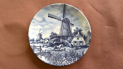 Delft Blue Plate, 1984 Ter Steege BV Delft Blauw, Hand Decorated, Holland