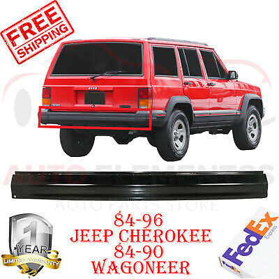 REAR BUMPER WITHOUT HOLES FOR 1984 1996 JEEP CHEROKEE WAGONEER CH1102167
