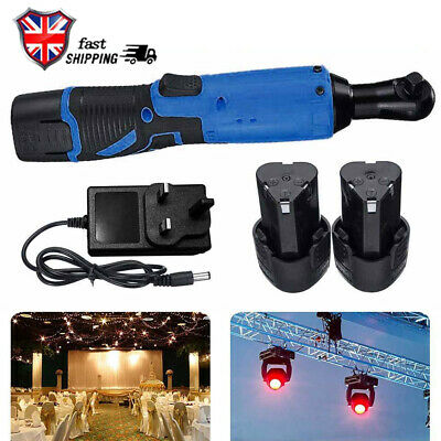 3/8'' 12V 90° 65Nm Electric Cordless Right Ratchet Angle Wrench Tool &Battery