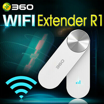 360 WiFi Extender R1 Wireless Network Amplifier Repeater White Signal Booster