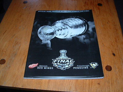2009 Stanley Cup Finals Game Program Pittsburgh Penguins vs Detroit Red Wings