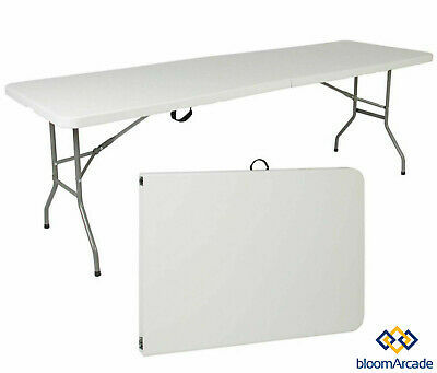 Heavy Duty Folding Table 1.8M 6FT Portable Plastic Camping Garden Party Trestle