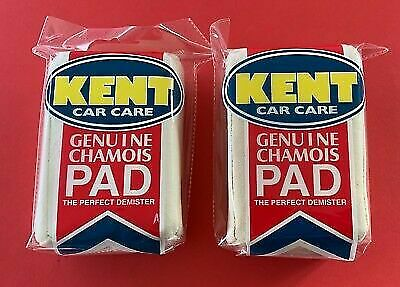 2 X Kent Car Care Genuine Chamois Car Demister Pad **2009rm
