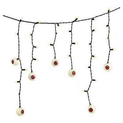 Hyde and Eek! Boutique Halloween Eyeball Icicle Lights 70ct - 55 Green 15 Clear