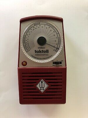 Vintage Wittner Taktell Electronic Metronome Dark Red West Germany