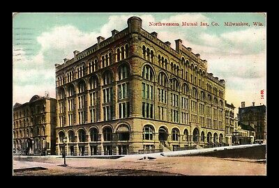 Dr Jim Stamps Us Northwestern Mutual Milwaukee Wisconsin Postcard 1914