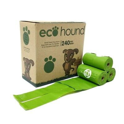 Ecohound ECO Dog Poo Bags OXO-  Biodegradable Dog Waste Bags Rolls-TIE HANDLES!!