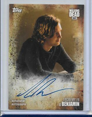 2017 Topps The Walking Dead Season 7 Autograph #A-Lm Logan Miller Auto Benjamin