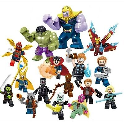 16pc/lot Marvel Super Heroes Avengers Infinity War Mini Figures Lego