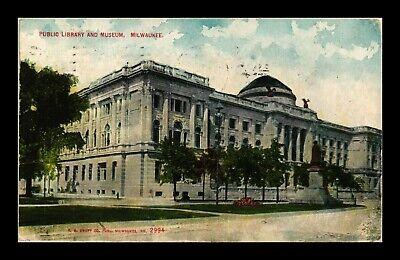 Dr Jim Stamps Us Public Library And Museum Milwaukee Wisconsin View Postcard