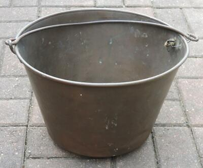 Antique H.w. Haydens Patent Dec 16, 1851 Anronia Co Solid Brass Pail/Bucket