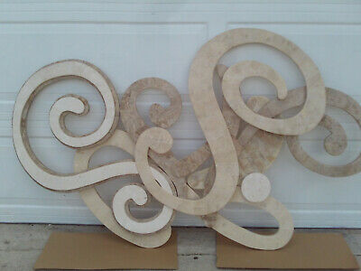 Vintage Swirl Tessellated Stone Wall Sculpture Marquis Collection Beverly Hills