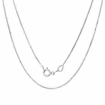 Sterling Silver Necklace BOX Chain Solid 925 Italy 1mm New Wholesale Prices