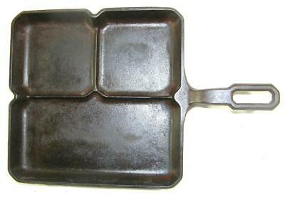 """Antique Griswold  9"""" Cast Iron Colonial Breakfast Skillet-Erie Pa Pat No 666"""