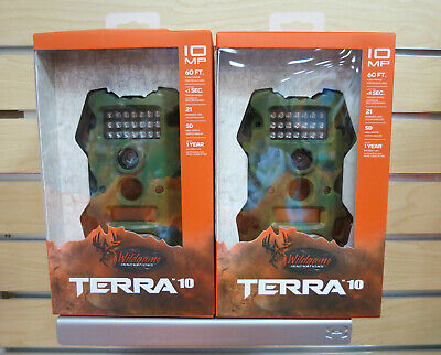 (2) Wildgame Innovations Terra 10 Trail Cam Scouting Stealth Camera Camo