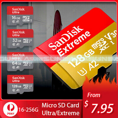 Sandisk/Samsung Micro SD Card 16G 32GB 64GB 128GB Ultra Extreme TF Memory Reader