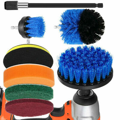8pcs Power Scrub Drill Brush Scrubber For Home Bathroom Kitchen Car Cleaning