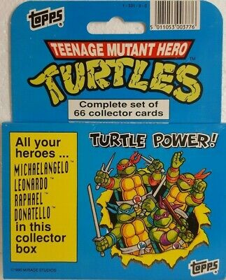 1990 Topps Teenage Mutant Ninja Turtles TRADING CARD Cartoon Factory Set of 66