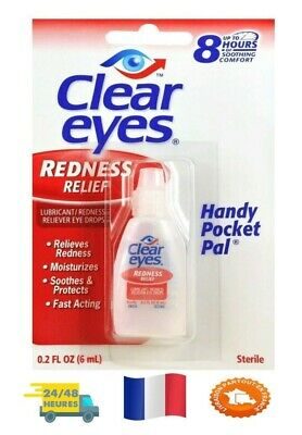 Clear Eyes Rougeur Soulagement Gouttes Yeux 6ml FRANCE