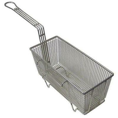 """FRY BASKET w//Two Handles Front Hook 16.75/"""" x 17.5/"""" x 6/"""" large batch 225-1027"""