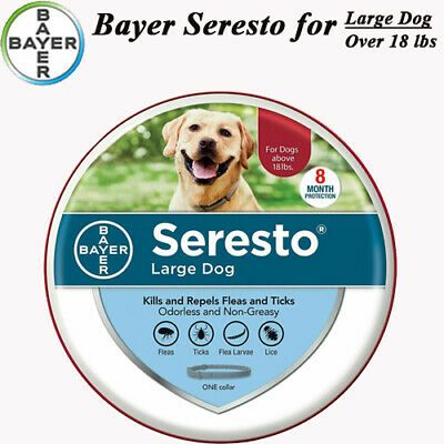Bayer Seresto Collar for Large Dog over 18 lbs,Flea & Tick Control For 8 Months