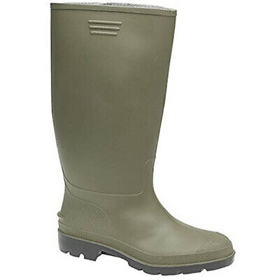 Green Wellington Boots Travel Camping Mens Ladies Boys Girls Shoes Mud Wellies