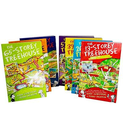 13 Storey Treehouse 7 Books Children Collection Paperback By Andy Griffiths