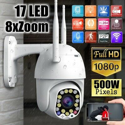 WIFI IP Camera 1080P 17 LED Wireless Outdoor CCTV HD Home Security IR Cam