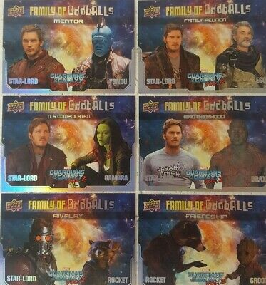 2017 Guardians of the Galaxy Vol. 2 Trading Card Set of 12 FAMILY OF ODDBALLS