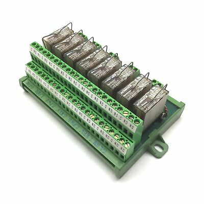 Lot of 8 Schrack RP420024 Relay, 2-Pole/Relay, Coil: 24VDC, Contact: 8A 250VAC