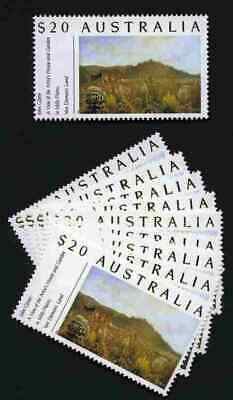 $20.00 Postage Stamps Mint with full gum x 10. Face Value $200.00.