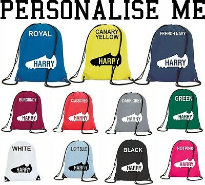 Personalised Drawstring Polyester Bag P.e Rugby Football Boots Children Gift Bag