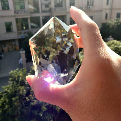 1x Hexagram Large Judaism Crystal Chandelier Prism Rainbow Suncatcher Pendant US