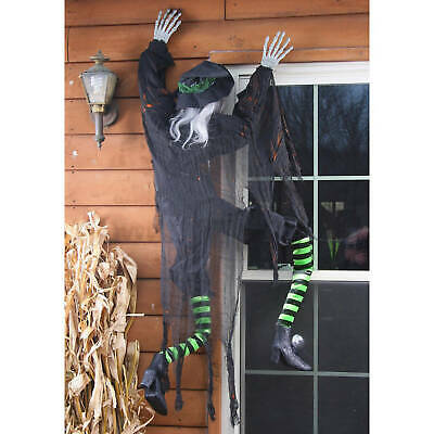 LIFE SIZE CLIMBING WITCH Halloween Yard Prop Outdoor Decoration HAUNTED HOUSE