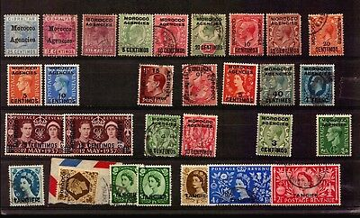 British Morocco Agencies Gb Colonies Commonwealth Cancel Used Stamps